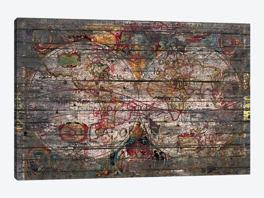 Old Map by Diego Tirigall 1-piece Canvas Wall Art