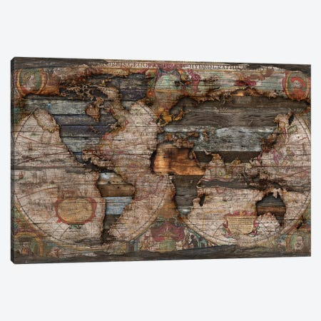 Reclaimed Map Canvas Print #MXS172} by Diego Tirigall Art Print