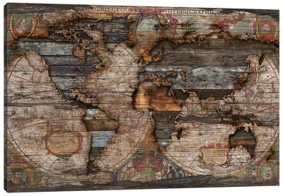 Reclaimed Map Canvas Art Print