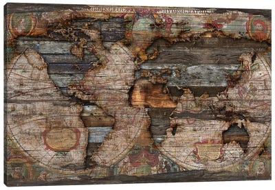 Reclaimed Map Canvas Art Print