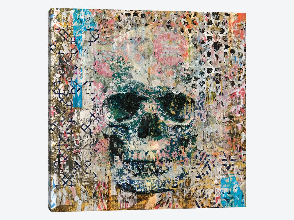 Old Skull Memories by Diego Tirigall 1-piece Canvas Artwork