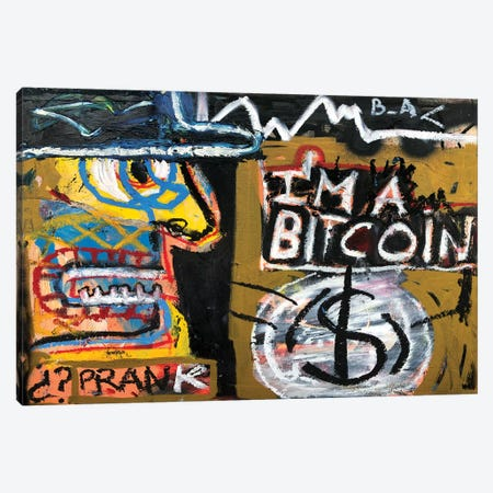 I'm a Bitcoin Canvas Print #MXS181} by Diego Tirigall Canvas Art