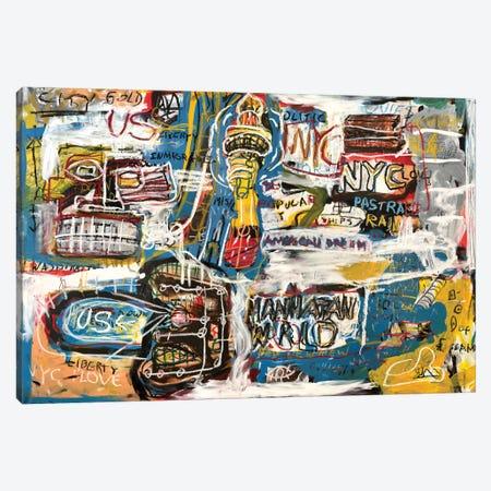 Manhattan World Canvas Print #MXS185} by Diego Tirigall Canvas Print