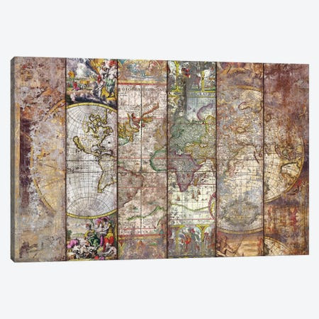 Old Times (World Map) I Canvas Print #MXS194} by Diego Tirigall Canvas Wall Art
