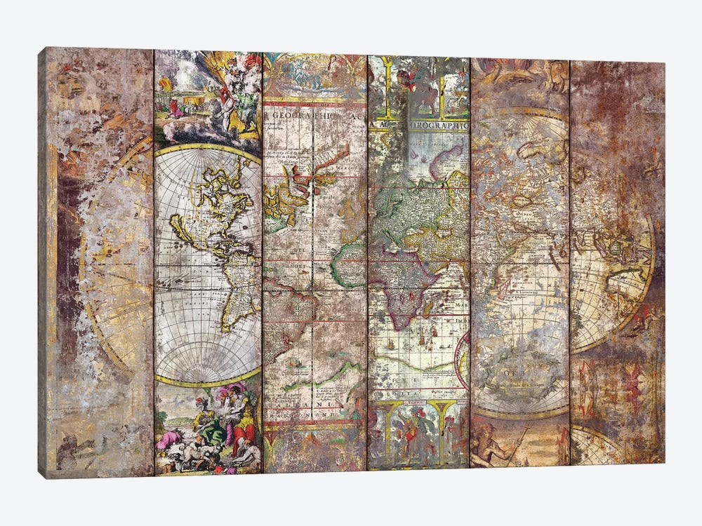 Old Times (World Map) I by Diego Tirigall 1-piece Art Print