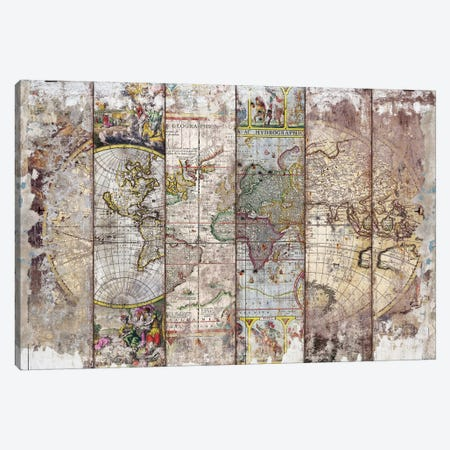 Old Times (World Map) II Canvas Print #MXS195} by Diego Tirigall Canvas Art
