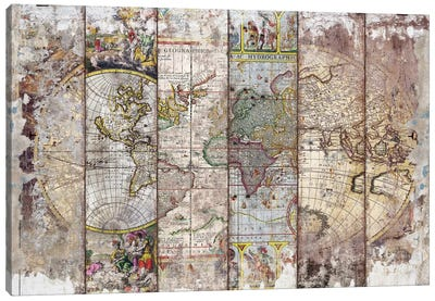 Old Times (World Map) II Canvas Art Print