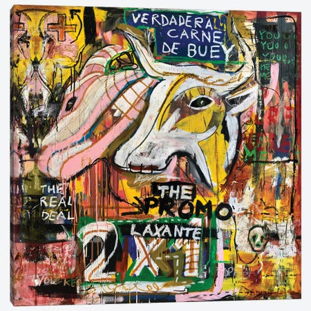 Verdadera Carne de Buey II Canvas Print #MXS220} by Diego Tirigall Canvas Art Print