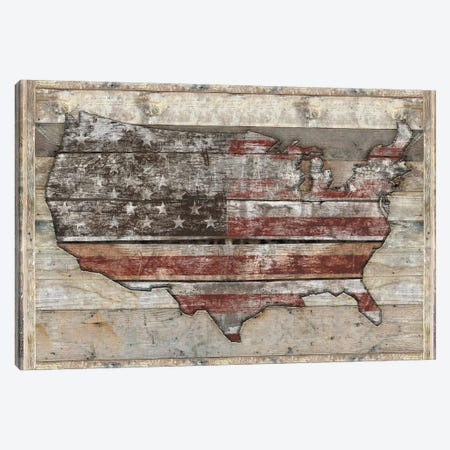 USA Map Fight Canvas Print #MXS221} by Diego Tirigall Canvas Print