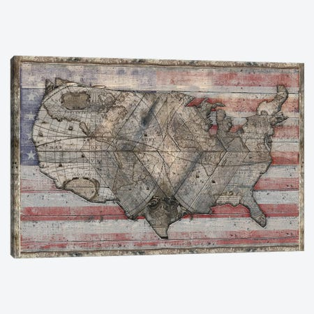 USA Map Forever Canvas Print #MXS222} by Diego Tirigall Art Print