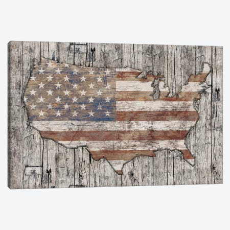 USA Map Life Canvas Print #MXS224} by Diego Tirigall Canvas Art