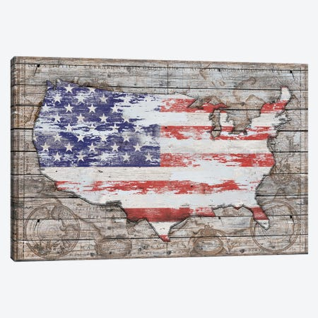 USA Map Old America Canvas Print #MXS225} by Diego Tirigall Canvas Artwork
