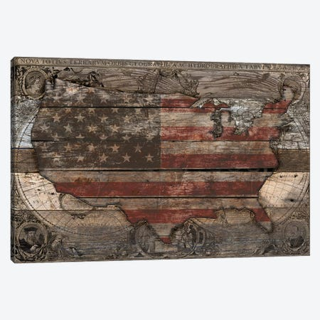USA Map Old Country Canvas Print #MXS226} by Diego Tirigall Canvas Artwork