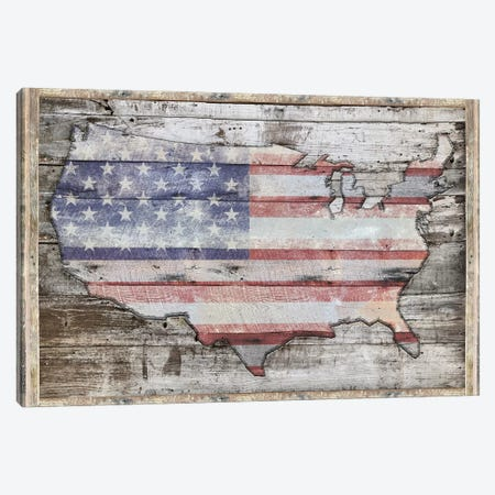 USA Map Redemption Canvas Print #MXS228} by Diego Tirigall Art Print