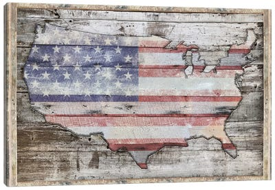 USA Map Redemption Canvas Art Print