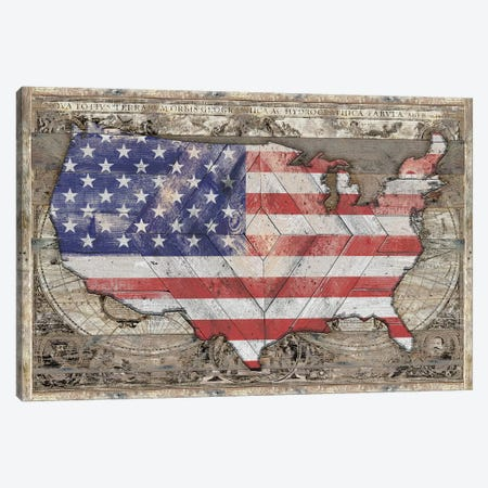 USA Map Union Canvas Print #MXS230} by Diego Tirigall Canvas Artwork