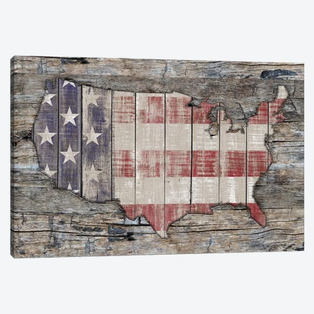 USA Map Unity And Hope Canvas Print #MXS231} by Diego Tirigall Canvas Artwork