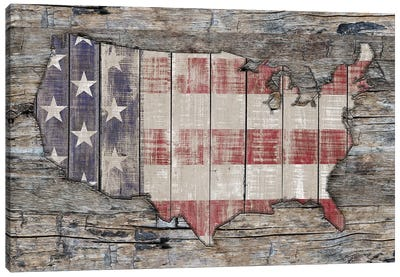 USA Map Unity And Hope Canvas Art Print