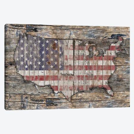 USA Map Western North America Canvas Print #MXS232} by Diego Tirigall Canvas Art