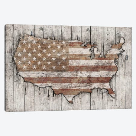 USA Map White Canvas Print #MXS233} by Diego Tirigall Canvas Wall Art