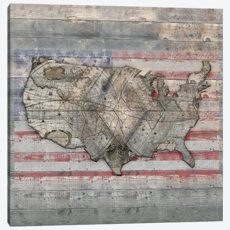 USA Map Forever - Square Canvas Print #MXS239} by Diego Tirigall Canvas Art