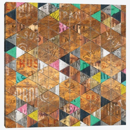 Retro Sign Pattern - Square Canvas Print #MXS240} by Diego Tirigall Art Print