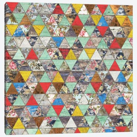 Rustic Geometry I - Square Canvas Print #MXS243} by Diego Tirigall Art Print