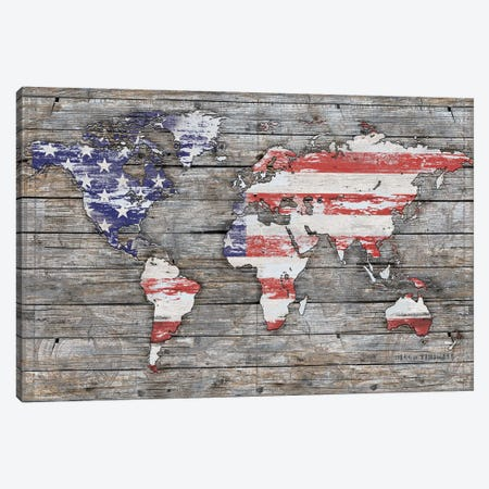 American World 3-Piece Canvas #MXS267} by Diego Tirigall Canvas Artwork