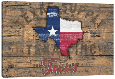 Rustic Morning In Texas State Canvas Art Print
