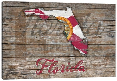 Rustic Morning In Florida State Canvas Art Print