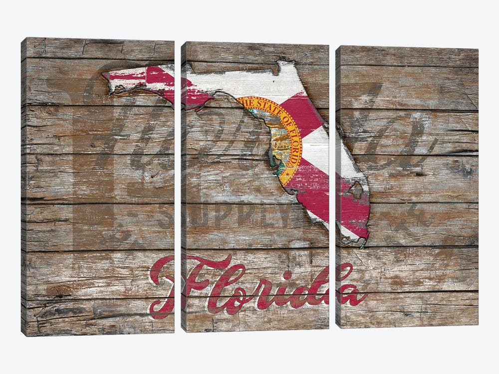 Rustic Morning In Florida State by Diego Tirigall 3-piece Canvas Print