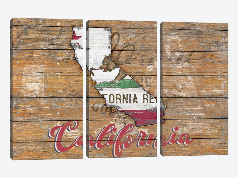 Rustic Morning In California State by Diego Tirigall 3-piece Canvas Print