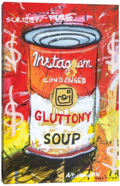 Gluttony Soup Preserves Canvas Art Print