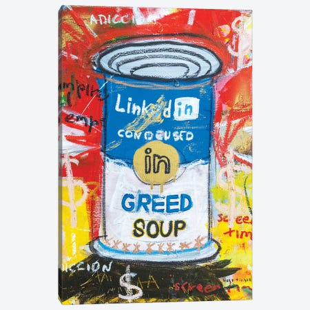 Greed Soup Preserves Canvas Print #MXS282} by Diego Tirigall Canvas Art Print