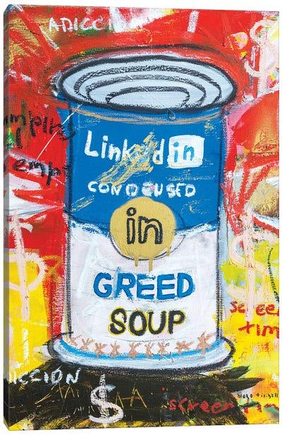 Greed Soup Preserves Canvas Art Print