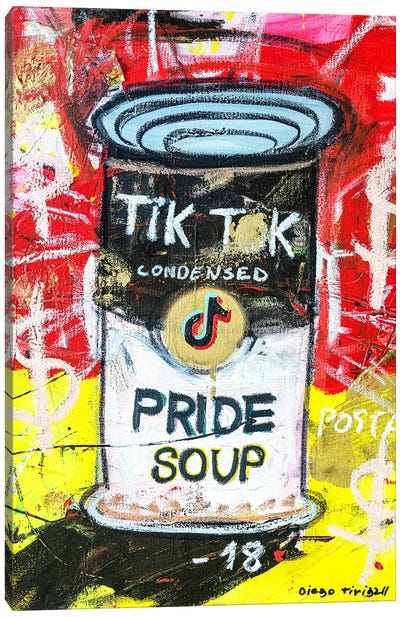 Pride Soup Preserves Canvas Art Print