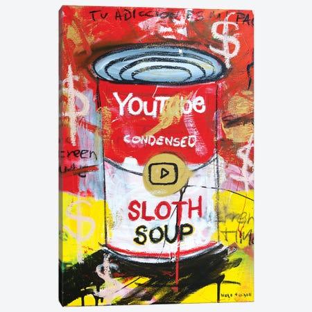 Sloth Soup Preserves Canvas Print #MXS285} by Diego Tirigall Canvas Artwork