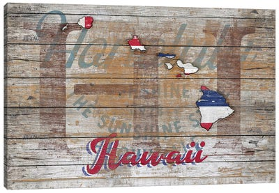 Rustic Morning In Hawaii State Canvas Art Print