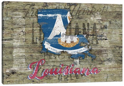 Rustic Morning In Louisiana State Canvas Art Print