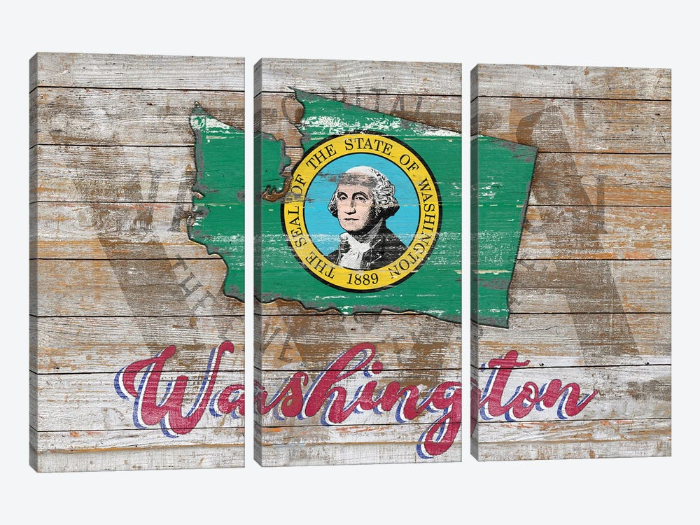 Rustic Morning In Washington State by Diego Tirigall 3-piece Canvas Print
