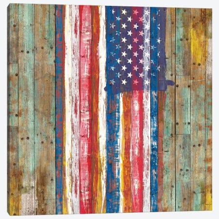 Nostalgic American Flag Canvas Print #MXS292} by Diego Tirigall Canvas Artwork
