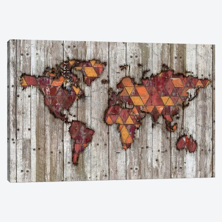 Abstract Natural Skin World Map Canvas Print #MXS293} by Diego Tirigall Canvas Art