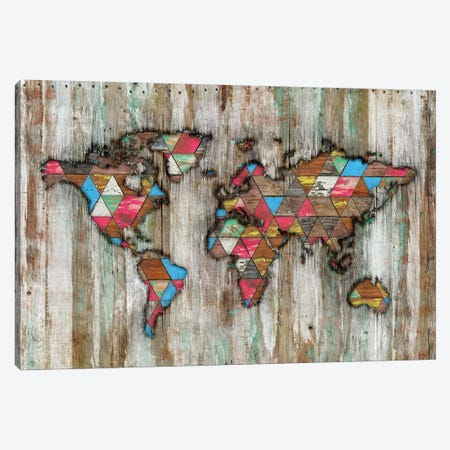 Rural World Map Canvas Print #MXS294} by Diego Tirigall Canvas Print
