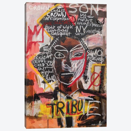 Basquiat Portrait Canvas Print #MXS299} by Diego Tirigall Canvas Wall Art