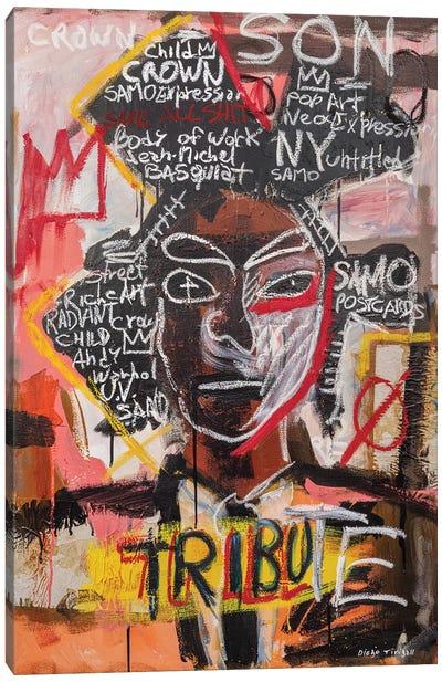 Basquiat Portrait Canvas Art Print