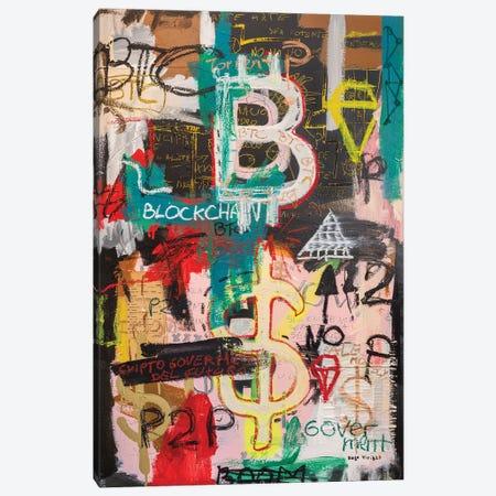 Bitcoin And Blockchain Boom Canvas Print #MXS300} by Diego Tirigall Canvas Wall Art
