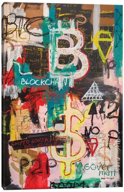 Bitcoin And Blockchain Boom Canvas Art Print