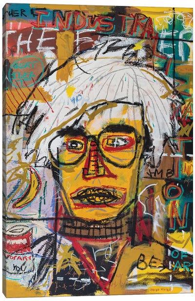 Warhol Portrait Canvas Art Print