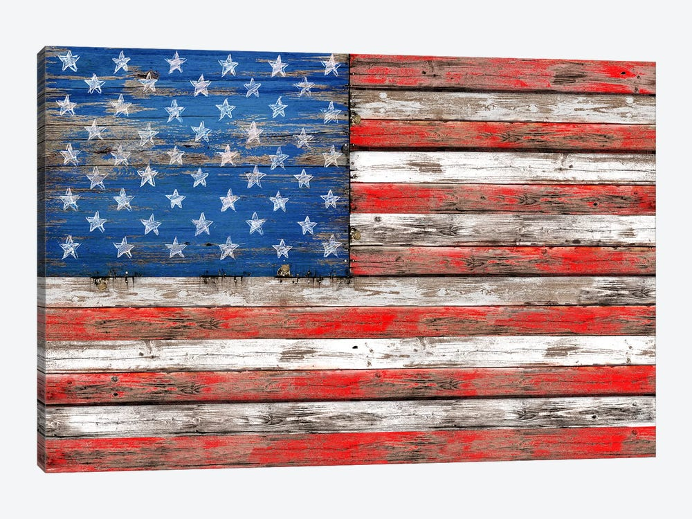 USA Vintage Wood by Diego Tirigall 1-piece Canvas Art