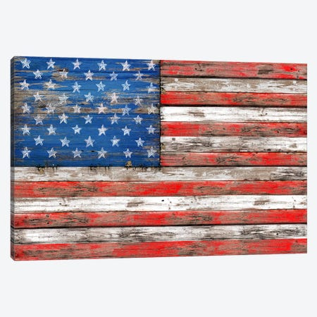 USA Vintage Wood Canvas Print #MXS30} by Diego Tirigall Canvas Art